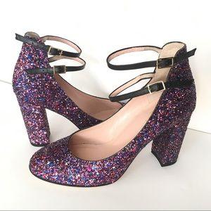 NWOB Kate Spade Baneera glitter block heels 7.5